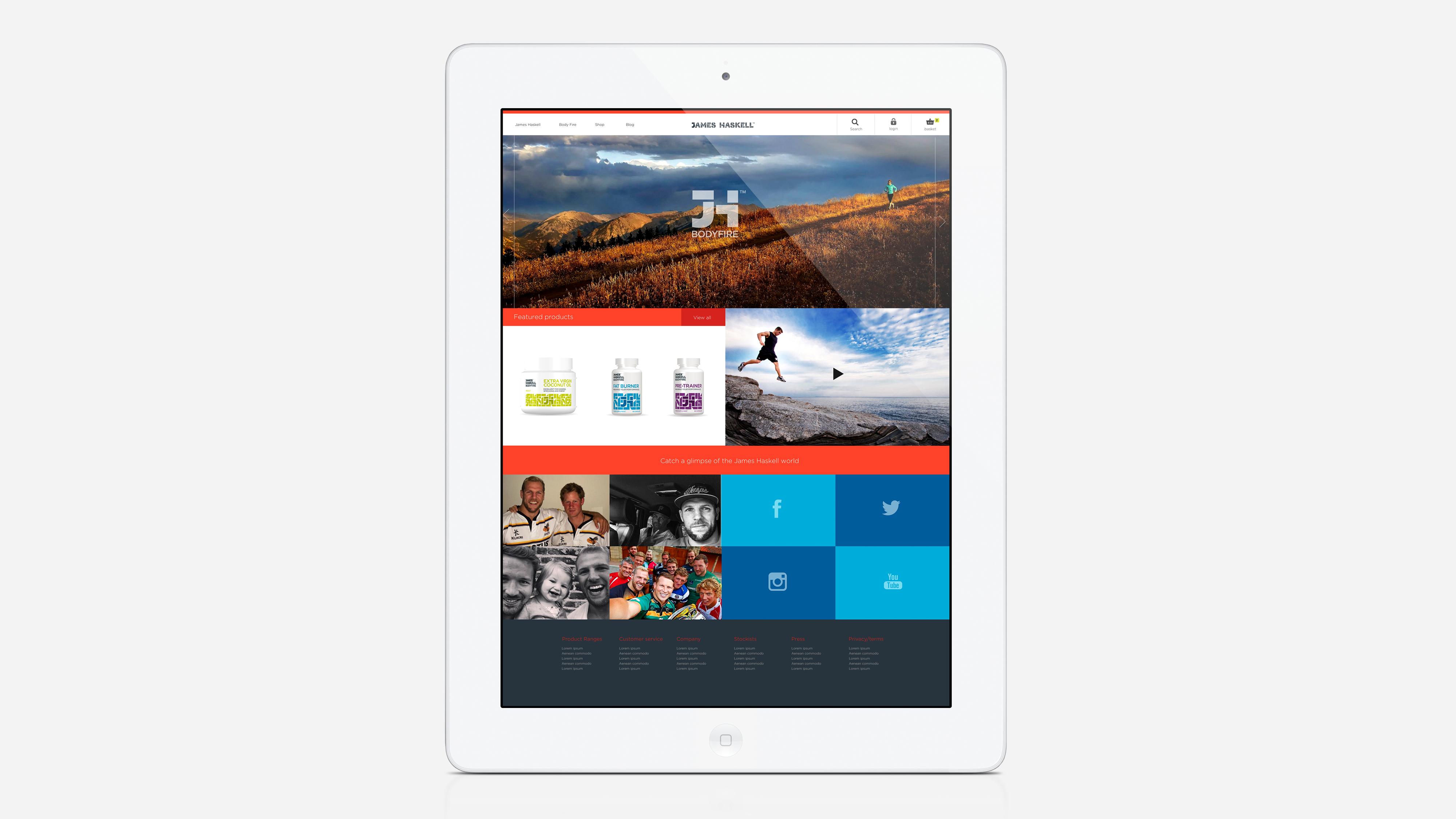 Website Concept iPad