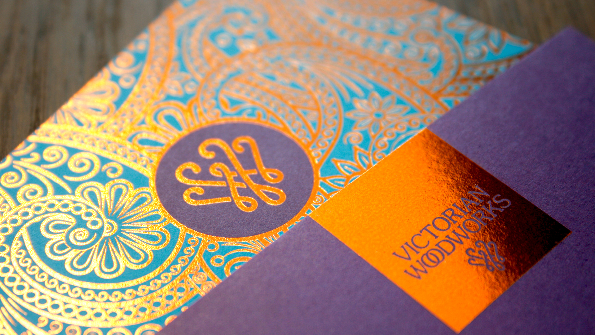 Copper foiled business card